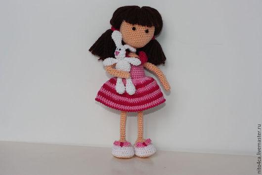 Человечки ручной работы. Ярмарка Мастеров - ручная работа. Купить Кукла Майя вязаная. Handmade. Розовый, подарок, белый