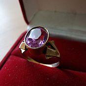 Украшения ручной работы. Ярмарка Мастеров - ручная работа Перстень кольцо с аметистом. Handmade.
