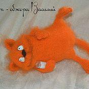 Куклы и игрушки handmade. Livemaster - original item The cat-gourmand Basil knitted. Handmade.