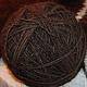 клубок из пряжи Черный Лохматуля\r\nодинарная крученая нитка