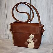 """Классическая сумка ручной работы. Ярмарка Мастеров - ручная работа Женская сумка """"Влюбленные кошки"""". Handmade."""
