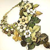 Украшения handmade. Livemaster - original item Window to the Enchanted Forest. Necklace. Genuine leather, natural stones. Handmade.