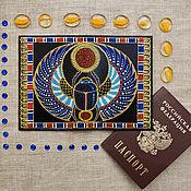 """Обложки ручной работы. Ярмарка Мастеров - ручная работа Обложка на паспорт """"Скарабей"""". Handmade."""