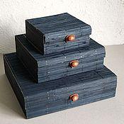 """Фурнитура для кукол и игрушек ручной работы. Ярмарка Мастеров - ручная работа коробочки """"Бамбук 14""""  черные. Handmade."""