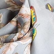 "Аксессуары handmade. Livemaster - original item Эксклюзивный шелковый палантин из ткани Dolce Gabbana ""Бабочки"". Handmade."