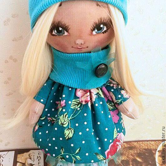 Коллекционные куклы ручной работы. Ярмарка Мастеров - ручная работа. Купить Кукла Кристинка. Handmade. Бирюзовый, интерьерная кукла, холофайбер