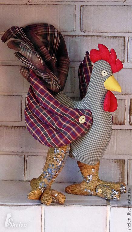 Игрушки животные, ручной работы. Ярмарка Мастеров - ручная работа. Купить Петух - красавчег. Тильда.. Handmade. Разноцветный, текстильная игрушка