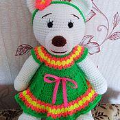 Мягкие игрушки ручной работы. Ярмарка Мастеров - ручная работа Игрушки: мишка Мила. Handmade.