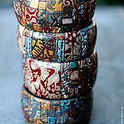 Украшения ручной работы. Ярмарка Мастеров - ручная работа Браслеты из полимерной глины яркие микс. Handmade.
