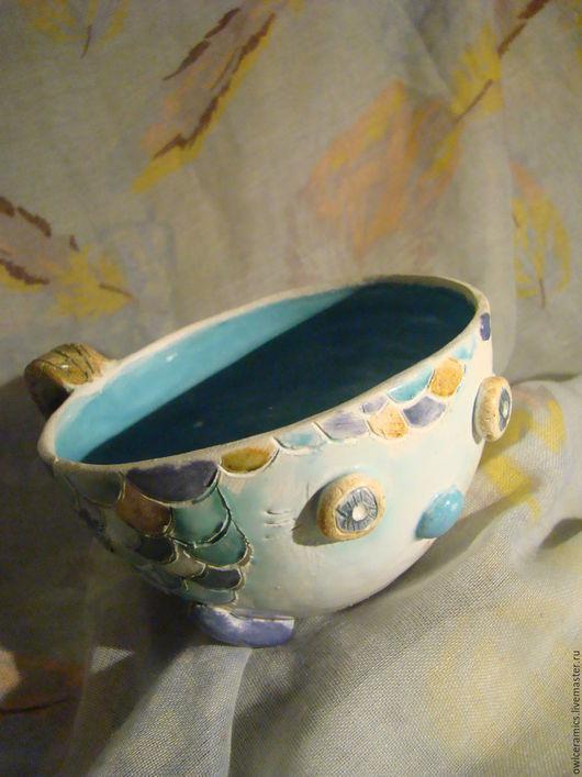 Кружки и чашки ручной работы. Ярмарка Мастеров - ручная работа. Купить Чашка керамическая Рыбка. Handmade. Кружка, керамическая чашка