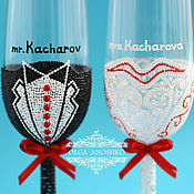 Свадебный салон handmade. Livemaster - original item Wedding glasses