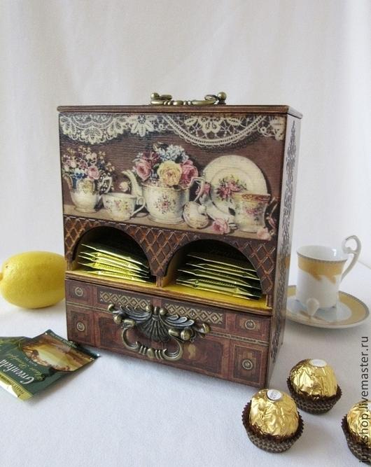 """Кухня ручной работы. Ярмарка Мастеров - ручная работа. Купить Чайный комод """"Семейный буфет"""". Handmade. Чайный домик, для чая"""