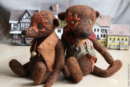 """Мишки Тедди ручной работы. Ярмарка Мастеров - ручная работа. Купить """"Old Rusty"""" Мишки-тедди,валяные из шерсти. Handmade."""