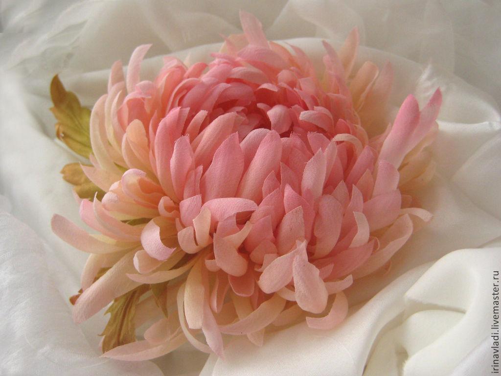 Silk Flowerscoration Brooch Pin Pink Chrysanthemum Shop Online