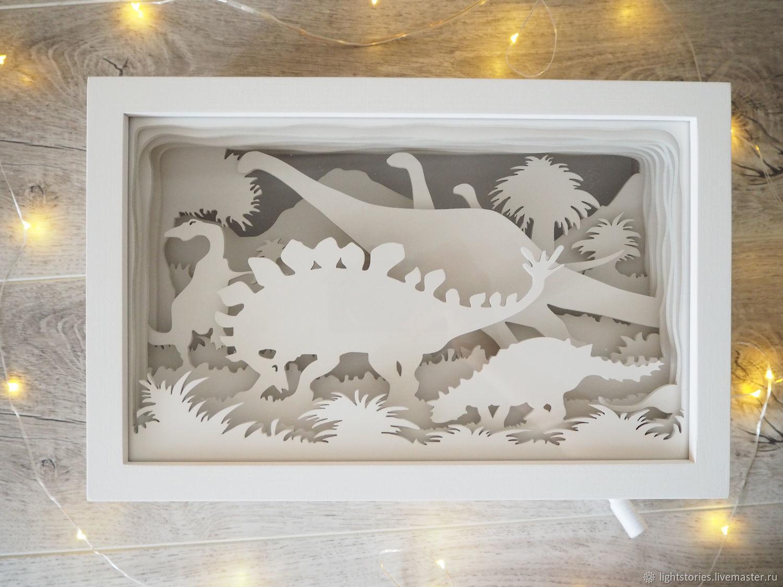 """Детский ночник из дерева """"Динозавры"""", Ночники, Липецк,  Фото №1"""