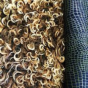 """Одежда ручной работы. Ярмарка Мастеров - ручная работа Натуральный мех """"Огненный"""". Тиградо. Ягненок.. Handmade."""
