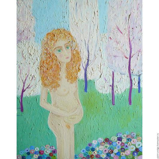Символизм ручной работы. Ярмарка Мастеров - ручная работа. Купить Картина весна. Handmade. Белый, Живопись, весна, нежность