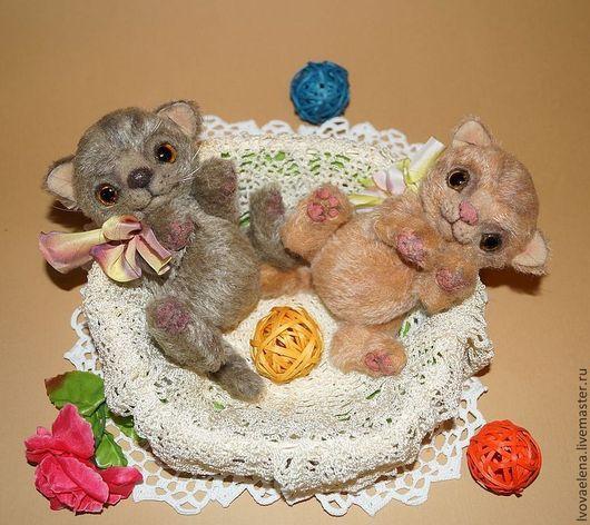 Мишки Тедди ручной работы. Ярмарка Мастеров - ручная работа. Купить Марсик и Барсик. Handmade. Котята, игрушка котенок, шплинты