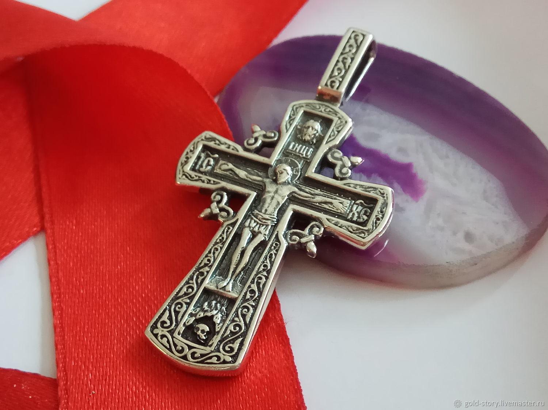 Крест серебряный Православный, Кулоны подвески, Москва, Фото №1