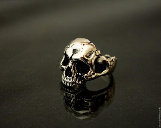 """Кольца ручной работы. Ярмарка Мастеров - ручная работа. Купить Cеребряное кольцо  """" Череп"""". Handmade. Серебряный, кольцо"""