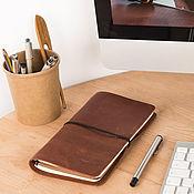 Канцелярские товары handmade. Livemaster - original item Notebook leather interchangeable midori style notebooks. Handmade.