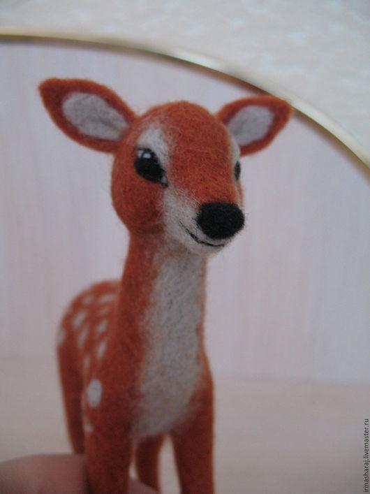 Игрушки животные, ручной работы. Ярмарка Мастеров - ручная работа. Купить олененок. Handmade. Рыжий