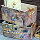 """Детская ручной работы. Ярмарка Мастеров - ручная работа. Купить Короб для игрушек """"А в Лисьем Лесу уже лето..."""". Handmade."""