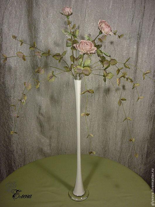 """Интерьерные композиции ручной работы. Ярмарка Мастеров - ручная работа. Купить Интерьерная композиция роза """"Леди"""". Handmade. Кремовый"""