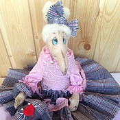Куклы и игрушки ручной работы. Ярмарка Мастеров - ручная работа Стильная Бабуся Ягуся. Handmade.
