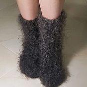 Аксессуары handmade. Livemaster - original item Down socks Knitted socks Winter socks made of goat down Sledki. Handmade.
