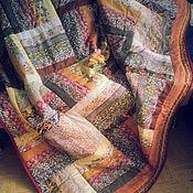 Пледы ручной работы. Ярмарка Мастеров - ручная работа Покрывало на кровать в спальню КРАСКИ СЕНТЯБРЯ лоскутное покрывало. Handmade.