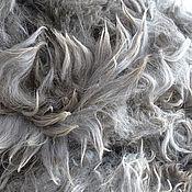 Материалы для творчества handmade. Livemaster - original item Alpaca Suri smoky-gray #1279 500 gr. Handmade.
