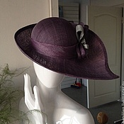 Шляпы ручной работы. Ярмарка Мастеров - ручная работа Статусная шляпка, бордовая. Handmade.