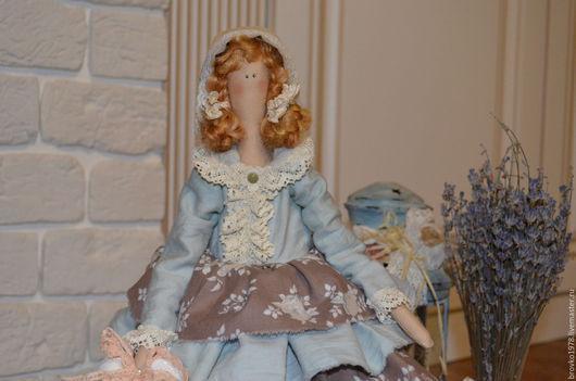 Куклы Тильды ручной работы. Ярмарка Мастеров - ручная работа. Купить Рыженькая Грейс из провинции. Handmade. Голубой, кукла интерьерная