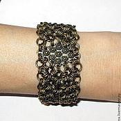 "Braided bracelet handmade. Livemaster - original item Metal сhain bracelet ""flowers of Languedoc"". Handmade."