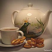 """Посуда ручной работы. Ярмарка Мастеров - ручная работа Чайник заварочный """"Царевна лягушка""""  1,7л. Handmade."""