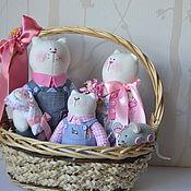 Куклы и игрушки ручной работы. Ярмарка Мастеров - ручная работа Семейство котов. Handmade.
