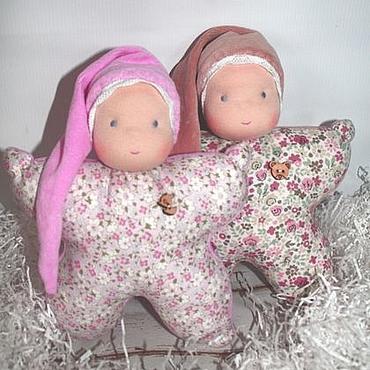 Куклы и игрушки ручной работы. Ярмарка Мастеров - ручная работа Кукла-бабочка, погремушка, прорезыватель. Handmade.