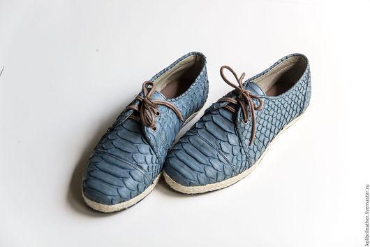 Обувь ручной работы. Ярмарка Мастеров - ручная работа. Купить Кожаные женские  ботинки из питона. Ботинки из натуральной кожи питона. Handmade.