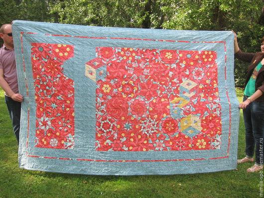 """Текстиль, ковры ручной работы. Ярмарка Мастеров - ручная работа. Купить """"Заношенные маки"""". Handmade. Лоскутное одеяло, печворк, маки"""