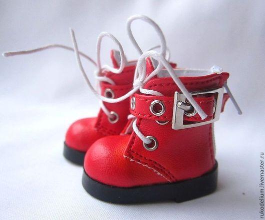 Куклы и игрушки ручной работы. Ярмарка Мастеров - ручная работа. Купить Обувь кукольная. Handmade. Ярко-красный, обувь для куклы