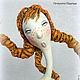 """Коллекционные куклы ручной работы. Интерьерная кукла """"Варвара краса-лишняя коса"""", каркасная, статуэтка. 'Волшебная шкатулка' (Надежда). Интернет-магазин Ярмарка Мастеров."""