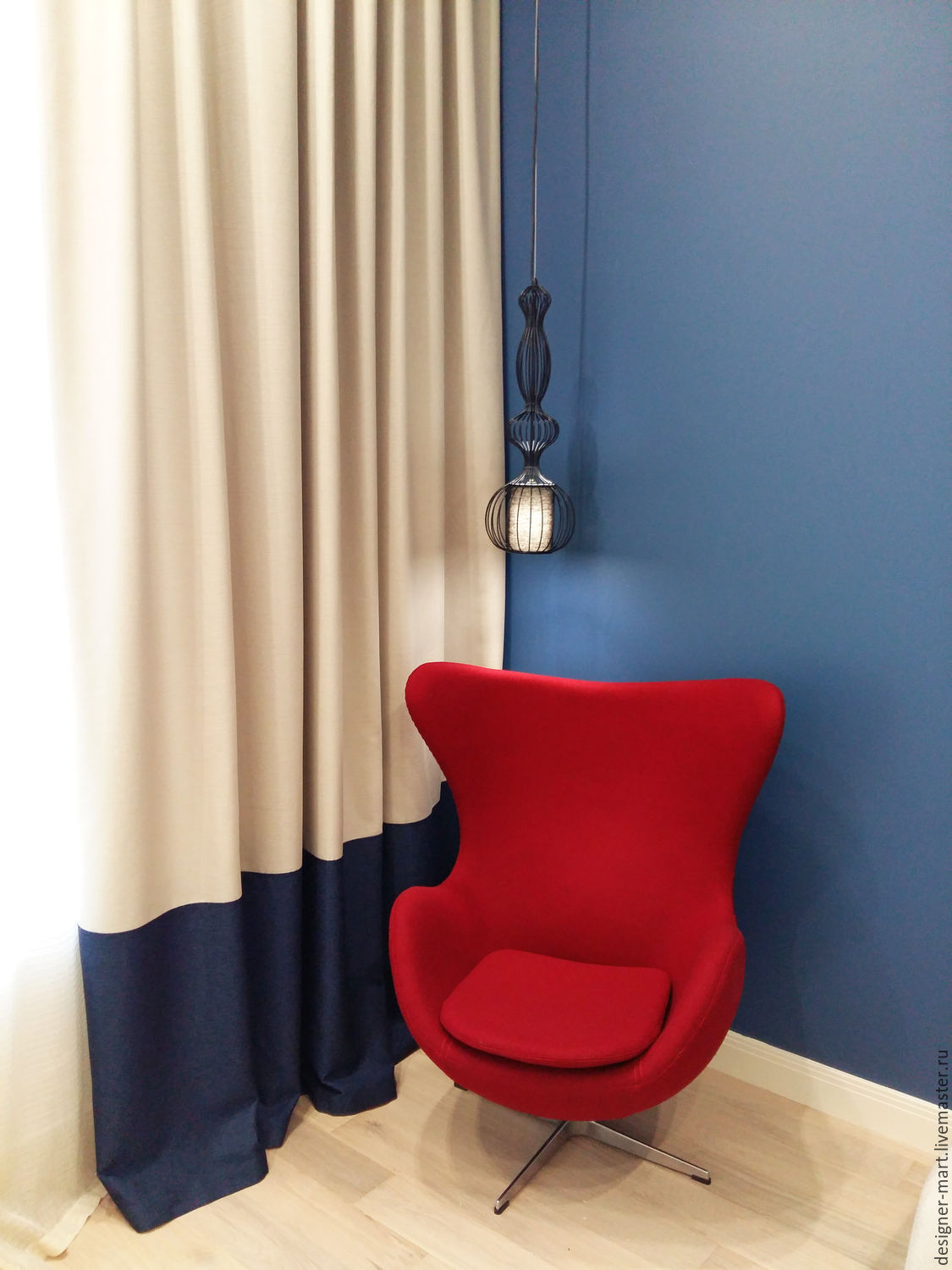 Cobalt blue curtains - Home Textiles Carpets Handmade Livemaster Handmade Buy The Curtains Are Beige With
