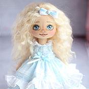 """Куклы и игрушки ручной работы. Ярмарка Мастеров - ручная работа текстильная кукла """"Снежинка"""". Handmade."""