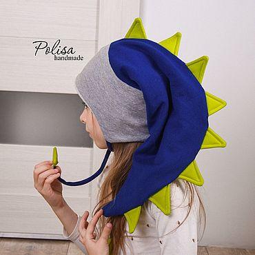 Товары для малышей ручной работы. Ярмарка Мастеров - ручная работа Объемная дино шапка с шипами. Handmade.