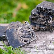 Косметика ручной работы. Ярмарка Мастеров - ручная работа Черное мыло-скраб с углем и маслом ним. Handmade.