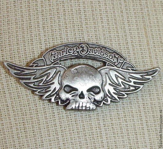 """Винтажные украшения. Ярмарка Мастеров - ручная работа. Купить Брошь """"Harley-Davidson Череп"""" под олово (США). Handmade. Брошь"""