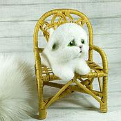Куклы и игрушки handmade. Livemaster - original item Kitty white wool. mini. Handmade.