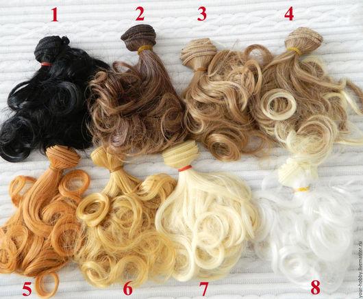 Куклы и игрушки ручной работы. Ярмарка Мастеров - ручная работа. Купить Волосы для кукол. Кудри. Handmade. Рыжий, волосы кукле