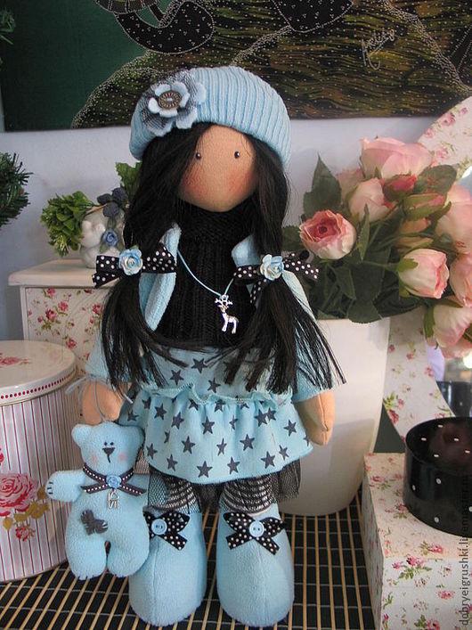 Коллекционные куклы ручной работы. Ярмарка Мастеров - ручная работа. Купить Кукла Джессика с мишкой. Handmade. Голубой, коллекционная кукла